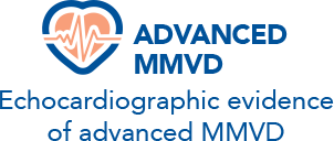 Echocardiographic evidence of advanced MMVD