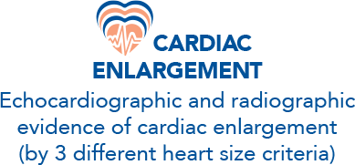 Evidence of cardiac enlargement